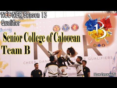 Group Stunt Senior College of Caloocan City Team B - National Cheerleading Championship 13 NCR