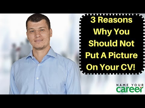 CV Writing: 3 Reasons Why You Should Not Put A Picture On Your CV!
