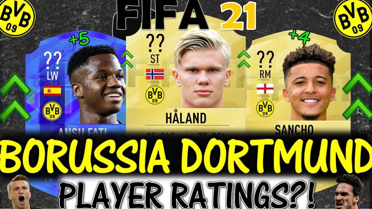 Fifa 21 Borussia Dortmund Player Ratings Predictions Ft Haland Sancho Ansu Fati Etc Fifa 21 Youtube