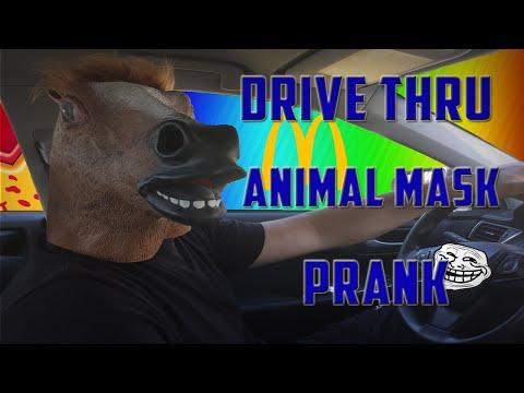Animal Masks at Drive Thru Prank
