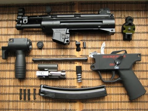 Сборка разборка оружия! Пистолет пулемет МП-5 в World of guns gun disassembly.