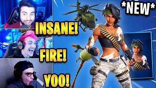 Streamers React to *NEW* 'Bandolette' Skin! *RARE* | Fortnite Highlights & Funny Moments