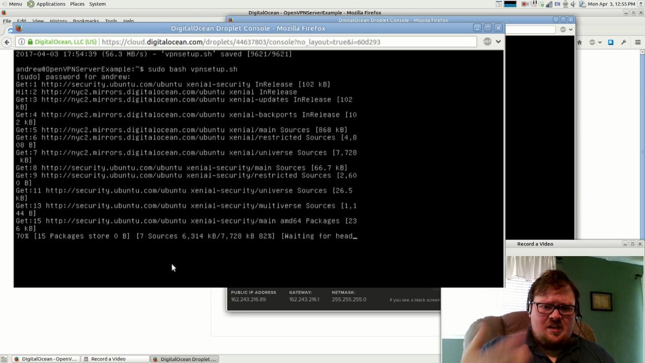 VPN on DigitalOcean #2: Setting up the VPN server