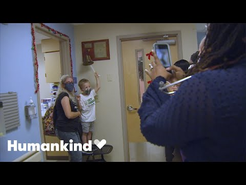 Little boy finishes chemo with a dance party | Humankind