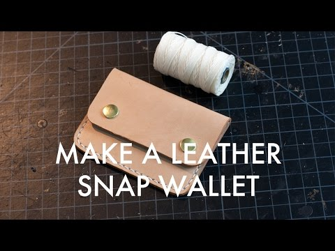 Making a Leather Snap Wallet - Build Along Tutorial