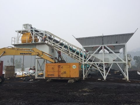 50 Mobile concrete batch plant in Philiphine