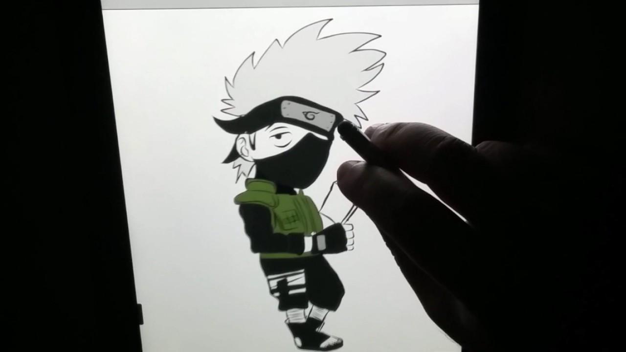 Comment Dessiner Kakashi En Chibi Petit Drawing Kakashi Chibi Little