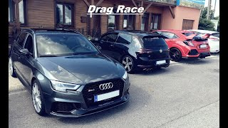 Drag Race: Audi Rs4 & Rs3 & MK7 R & Megane Rs250 & Type R Fk8