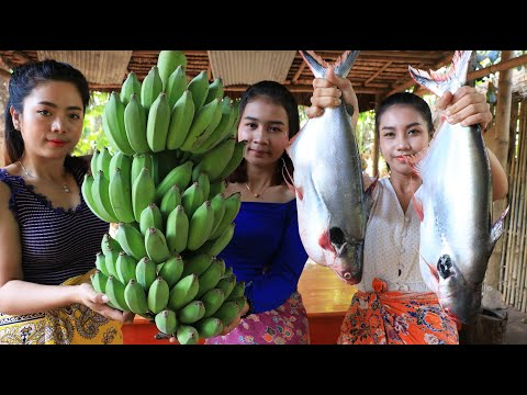 Cooking Soup Fish With Green Banana Recipe - Natural Life TV