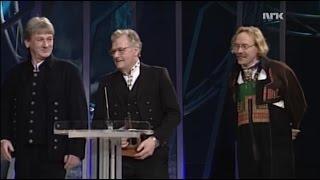 Bjarne Herrefoss, Knut Hamre og Hallvard T. Bjørgum vinner Årets Folkemusikk (Spellemannprisen 1998)