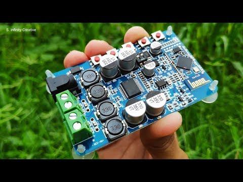 TDA7492P 2×50W Bluetooth Amplifier Board - YouTube