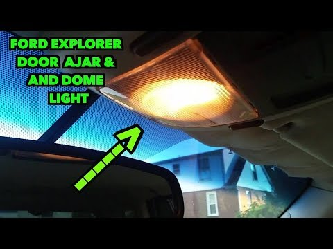 Dome Light Door Ajar Fix2002  2005 Explorer  YouTube