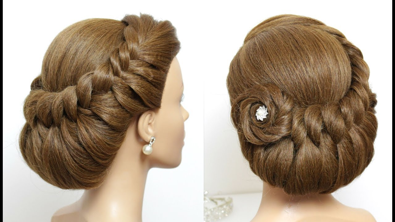 Simple Bridal Hairstyle For Long Hair Tutorial Youtube