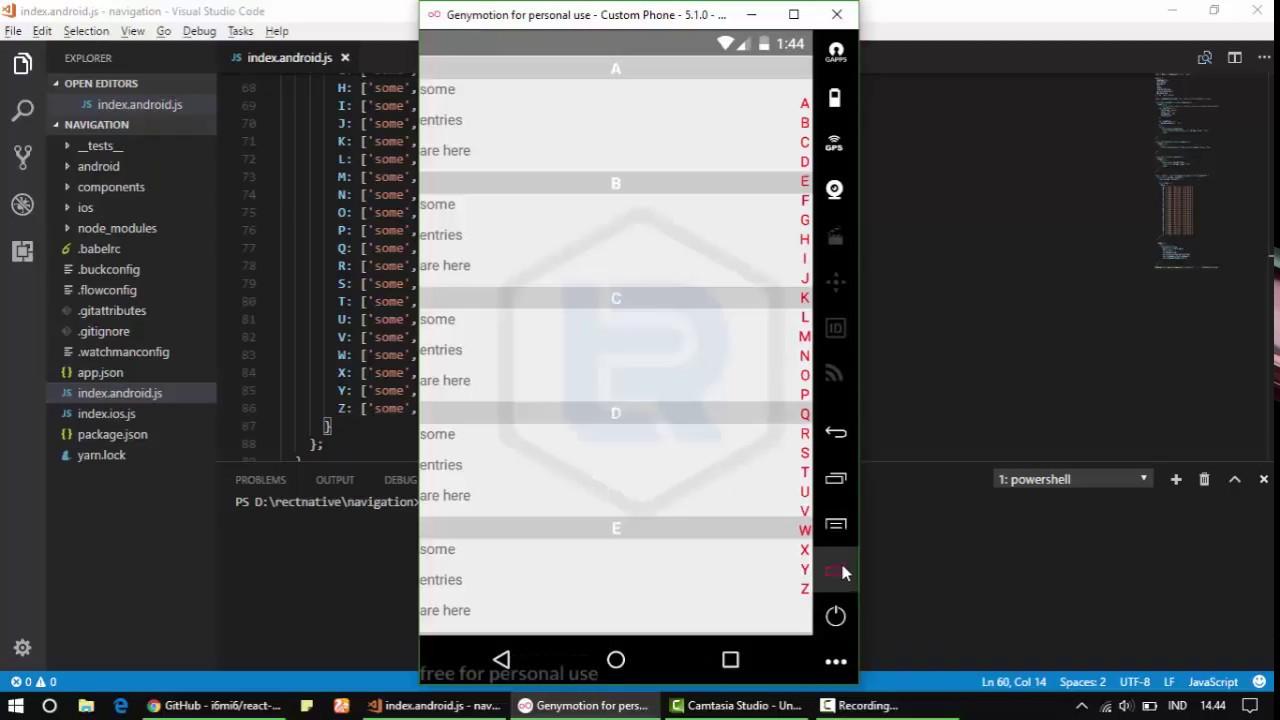 React Native - How to make Alphabet Listview