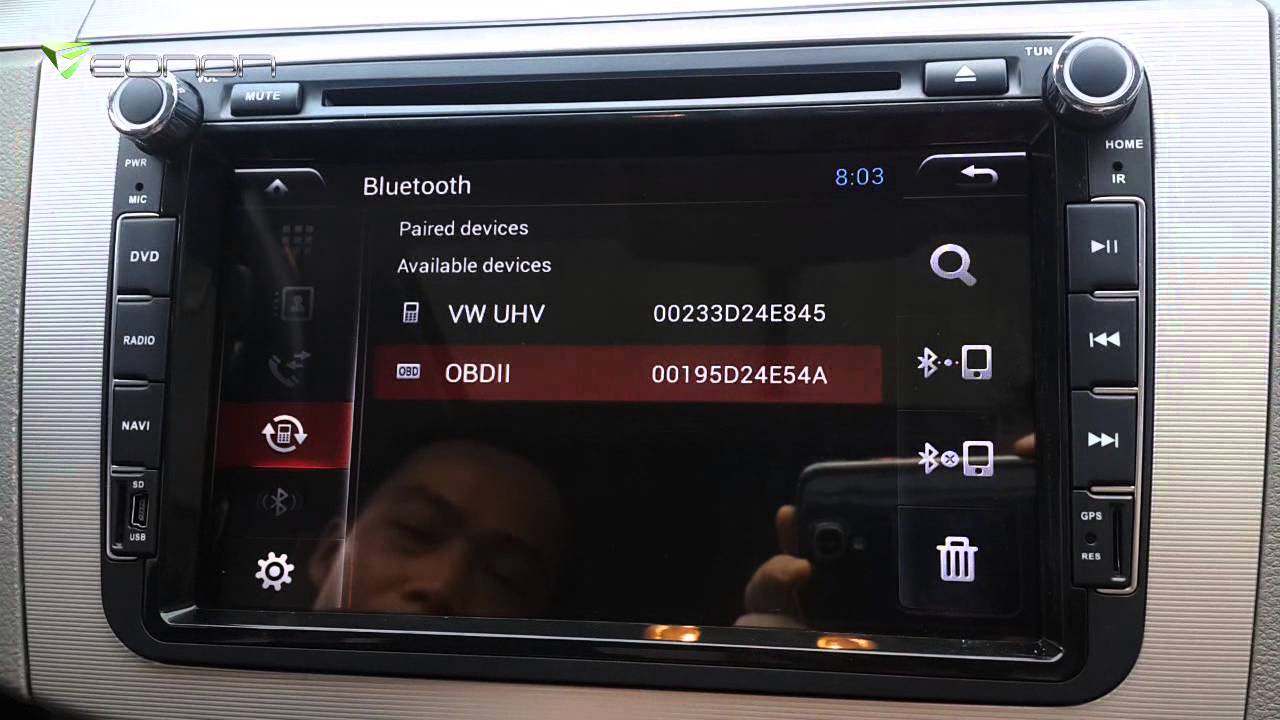 How to Connect the OBD2 to Eonon Android Car Stereo? - YouTube