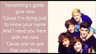 one thing karaoke one direction