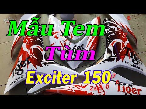 Dán Tem Trùm   Dán tem trùm Tiger Xe Exciter 150
