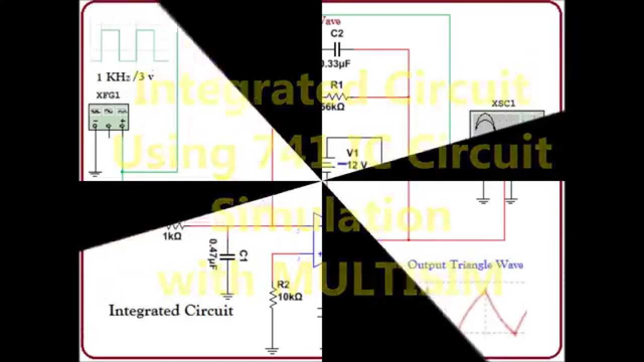 Integrator Circuit Simulation In Multisim Rc