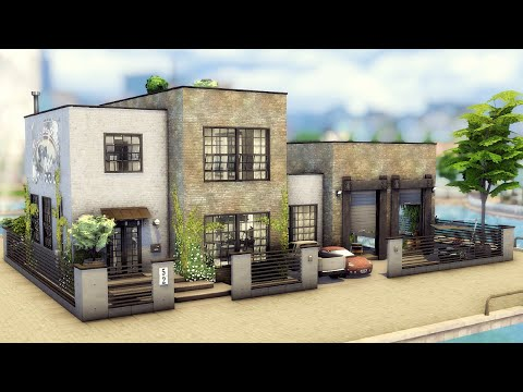 The Sims 4 Lover's Industrial Loft Converted Warehouse in Windenburg |No CC | Stop Motion |