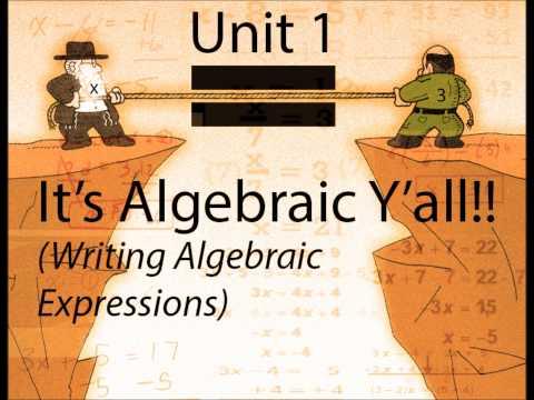 It's Algebraic Y'all