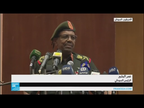 عمر البشير يعلن عن وجود مدرعات مصرية في دارفور