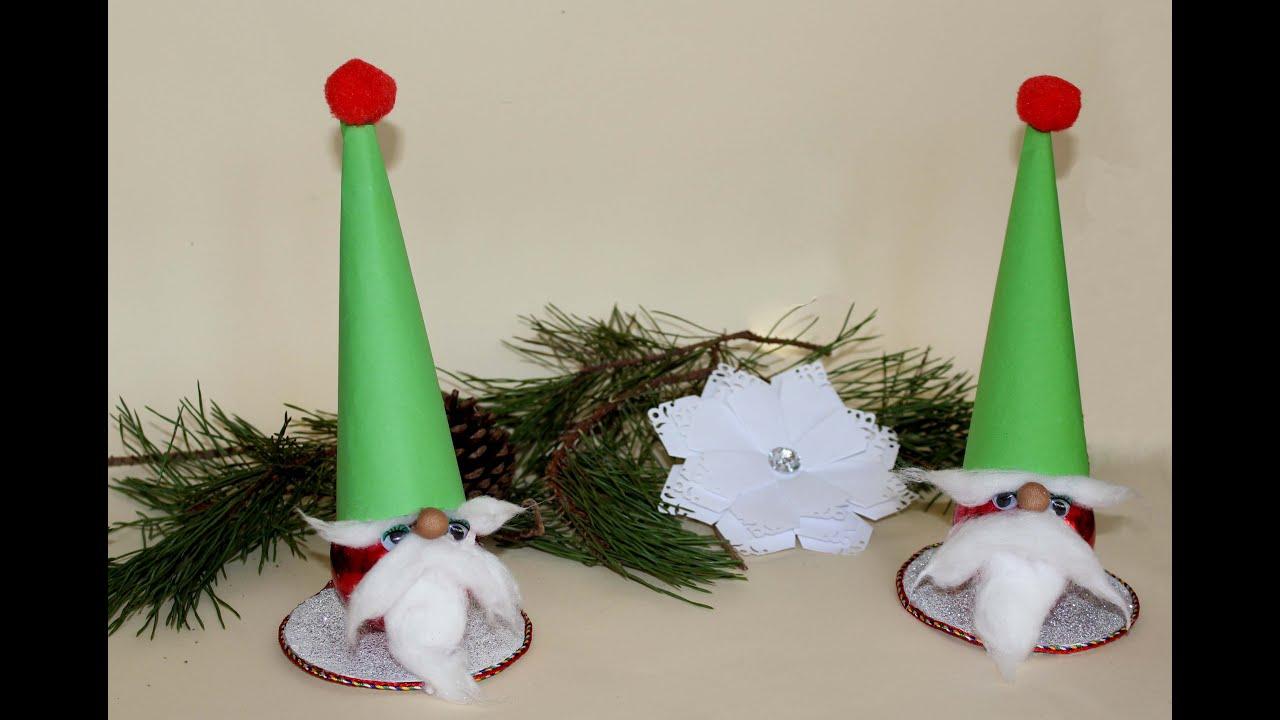 Como hacer un gnomo para decorar en navidad youtube - Como decorar un arbol de navidad ...