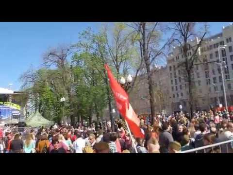 """Москва! Пушкинская  Площадь! 9 мая 2015г! И """"Три танкиста"""""""