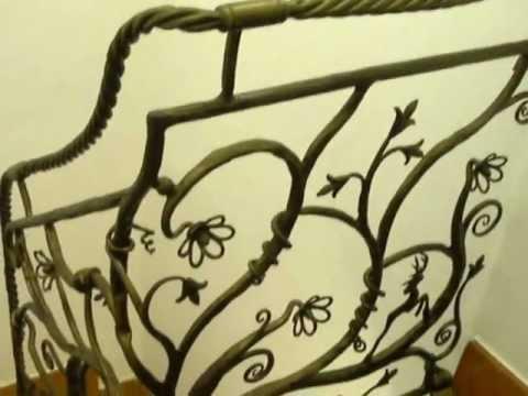 Escalera de forja art stica youtube - Barandillas de forja ...