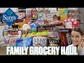 MASSIVE SAMS CLUB GROCERY HAUL   WHOLESALE GROCERY SHOPPING FOR A FAMILY OF SIX   HUGE GROCERY HAUL
