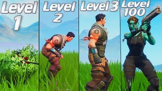 Evolution of the Fortnite Noob! Season 0 - 7