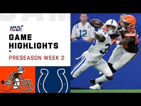 Browns vs. Colts Preseason Week 2 Highlights | NFL 2019