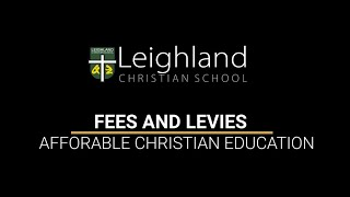 Fees and Levies - Mr David Grey Business Manager