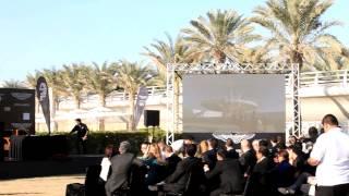Aston Martin land Vanquish on Burj Al Arab