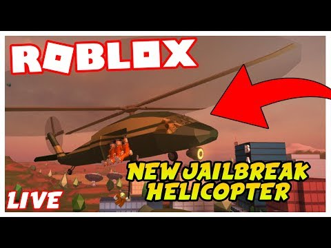Roblox Jailbreak Livestream| NEW JAILBREAK UPDATE|NEW MILITARY HELICOPTER! | COME JOIN!