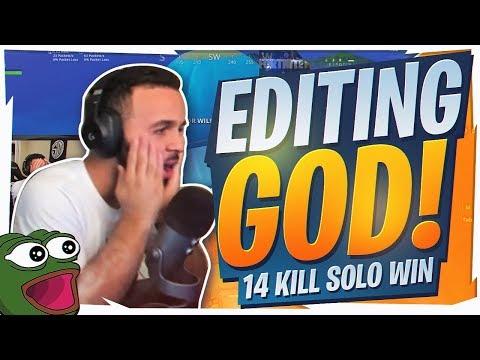 EDITING LIKE A GOD! NUTTY 14 KILL WIN (Fortnite BR Full Game)