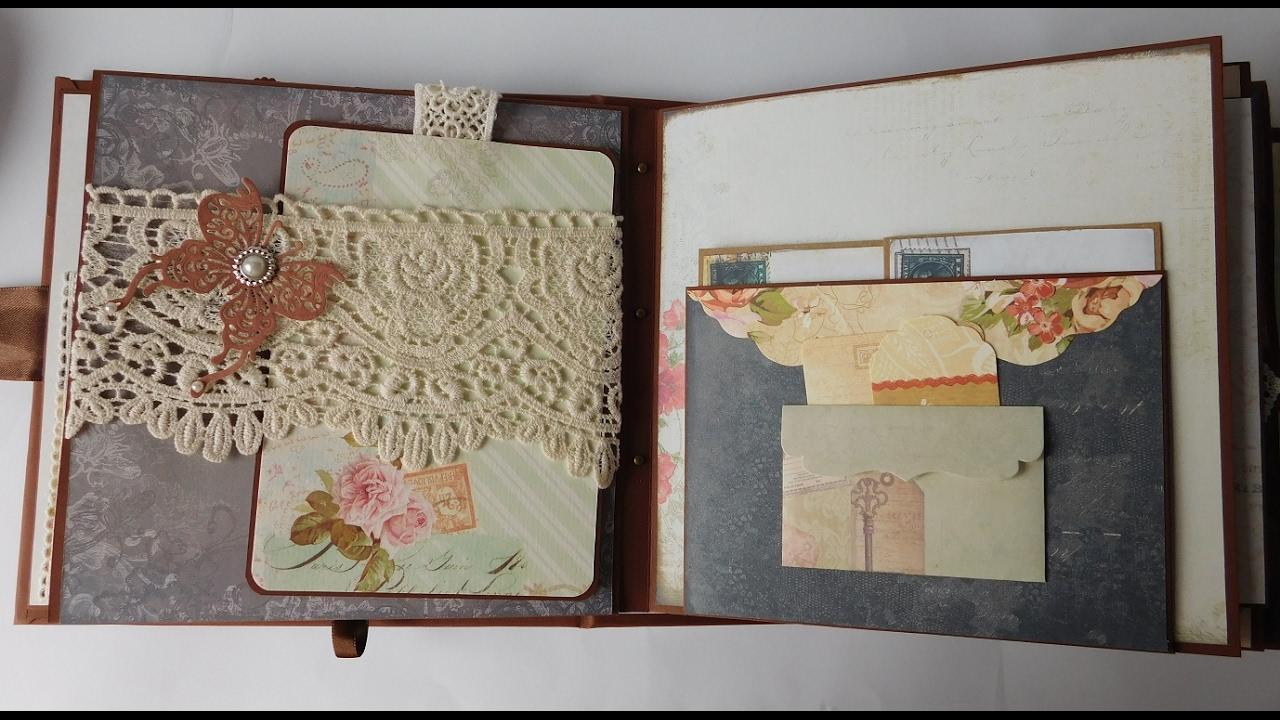 How to scrapbook memories - Vintage Scrapbook Memories Album