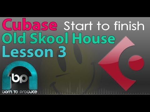 Cubase Old Skool 90s House Tutorial - Piano