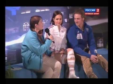 2012 EC icedance Nathalie PECHALAT / Fabian BOURZATwinners interview