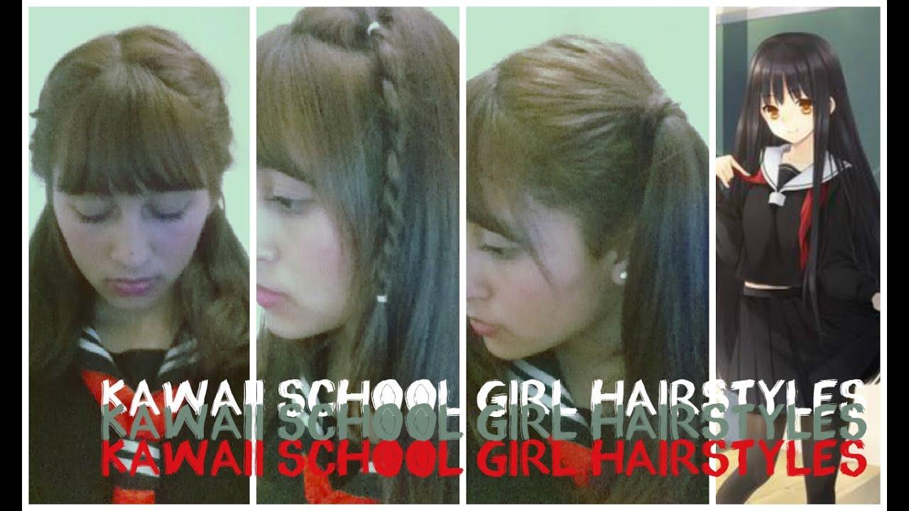 kawaii school girl hairstyles