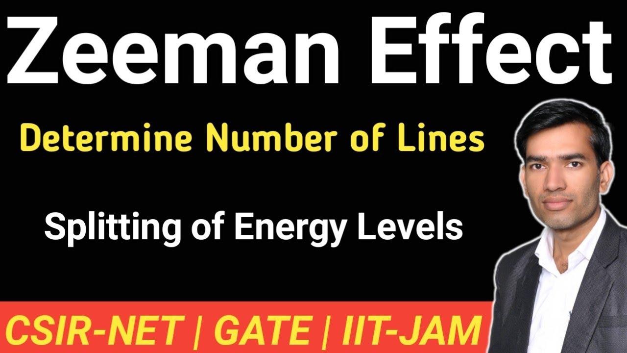 Zeeman Effect | Splitting of Energy Levels | Number of Lines | CSIR NET