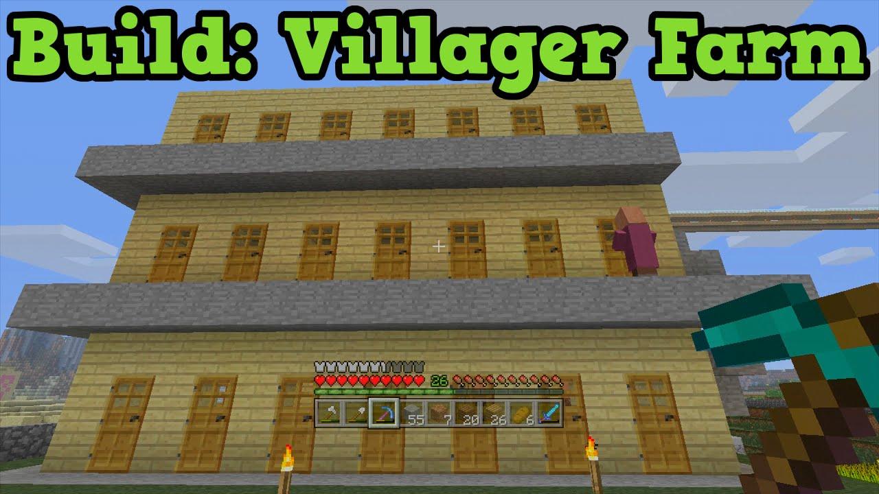 Minecraft Xbox 9 - Build Tutorial - NPC Villager Farm (Appartment)