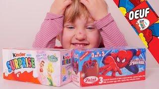 [OEUF] Kinder Surprise Disney Fairies et Oeufs surprises Zaini Spiderman - Studio Bubble Tea