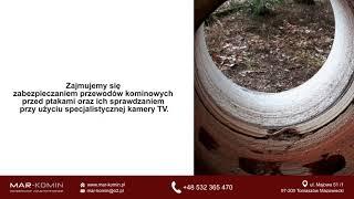 Usługi kominiarskie udrażnianie kominów fazowanie kominów Tomaszów Mazowiecki Mar-Komin