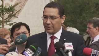 """Declaratii sustinute de Victor Ponta, la spitalul """"Sfantul Ioan"""" din Galati - 16.10.2014"""