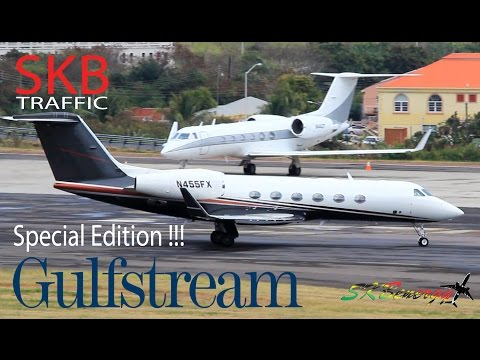 Gulfstream Edition !!! G4, G5 in action @ St. Kitts Robert L. Bradshaw Int'l Airport
