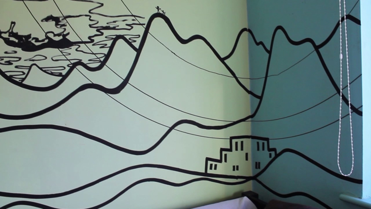 paint marker art wall mural rough outlines youtube