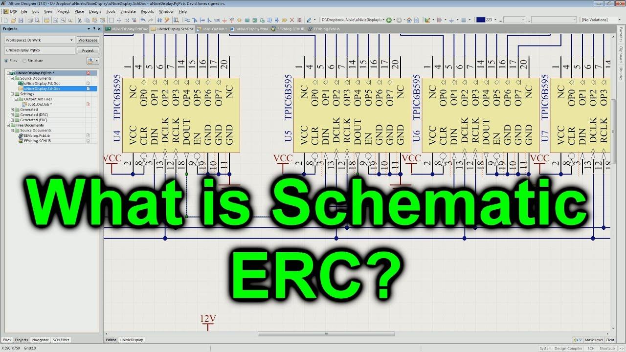 EEVblog #953 - What Is Schematic ERC? - YouTube