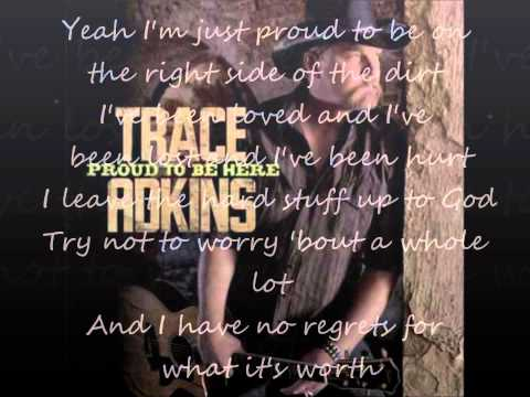 Proud to be Here- Trace Adkins (lyrics on screen)