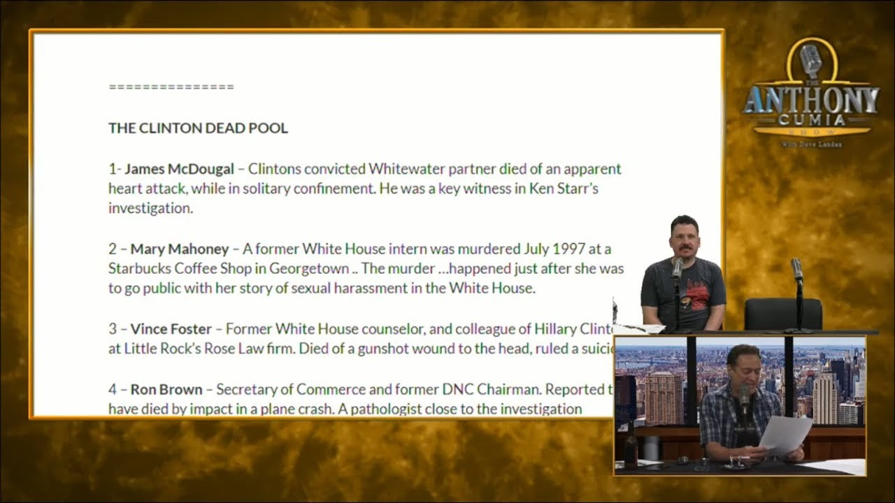 The List of Clinton Associates Who Allegedly Died Mysteriously