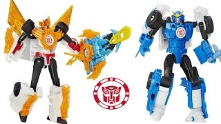 Transformers Robots in Disguise SIDESWIPE & WINDSTRIKE, STRONGARM & SAWTOOTH MINI CON WEAPONIZERS